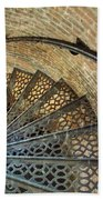 Lighthouse Spiral Staircase Beach Towel