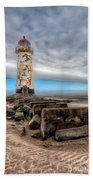 Lighthouse Steps Beach Towel by Adrian Evans