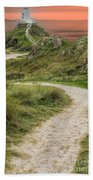 Lighthouse Trail Beach Towel by Adrian Evans