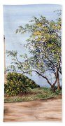 Lighthouse Beach Towel by Victor Collector