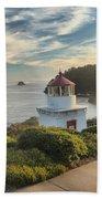 Lighthouse Walk Beach Towel by Adam Jewell