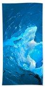 Lighting In Nigardsbreen Glacier Grotto 3 Beach Towel