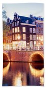 Lights Of Amsterdam Beach Sheet
