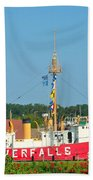 Lightship Overfalls Beach Towel