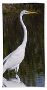 Like A Great Egret Monument Beach Towel