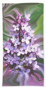 Lilac Abstract Beach Towel