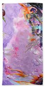 Lilac Goldfish Beach Towel
