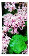 Lilacs After The Rain Beach Towel