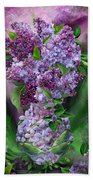 Lilacs In Lilac Vase Beach Towel