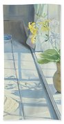 Lilies And A Straw Hat Beach Towel