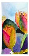Lilies Of The Water Beach Towel