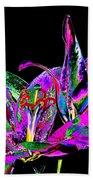 Lilies Pop Art Beach Towel