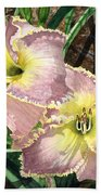 Lillies Clothed In Glory Beach Towel