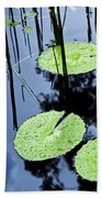Lilly Pad Pond Beach Towel