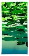Lilly Pads Of Reelfoot Lake Beach Sheet