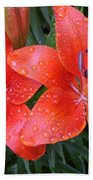 Lily Duet After The Rain Beach Towel