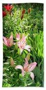 Lily Garden Beach Towel