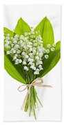 Lily-of-the-valley Bouquet Beach Towel