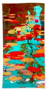 Lily Pads And Koi Colorful Water Garden In Bloom Waterlilies At The Lake Quebec Art Carole Spandau  Beach Towel