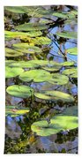 Lily Pads In The Swamp Beach Towel