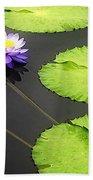 Lily Pads Purple Beach Towel