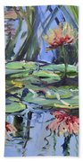 Lily Pond Reflections Beach Towel