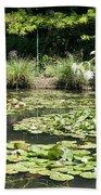 Lily Pond View Monets Garden Beach Towel