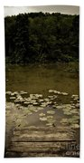 Lilypads At The Dock Beach Towel
