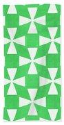 Lime Twirl Beach Towel