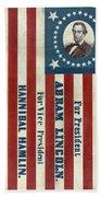 Lincoln 1860 Presidential Campaign Banner Beach Towel