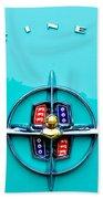 Lincoln Continental Rear Emblem Beach Towel by Jill Reger