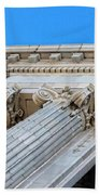 Lincoln County Courthouse Columns Looking Up 01 Beach Towel