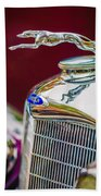 Lincoln Hood Ornament - Grille Emblem -1187c Beach Towel by Jill Reger