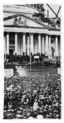 Lincoln Inauguration, 1861 Beach Towel