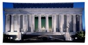 Lincoln Memorial At Dusk, Washington Beach Towel