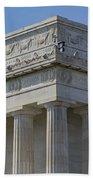 Lincoln Memorial Columns  Beach Towel by Susan Candelario