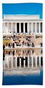 Lincoln Memorial Beach Towel by Greg Fortier