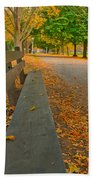 Lincoln Park Bench In Fall Beach Towel