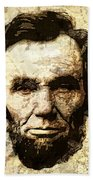 Lincoln Sepia Grunge Beach Towel
