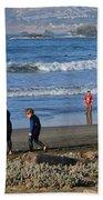 Linda Mar Beach Families Beach Towel