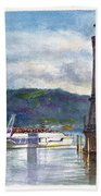 Lindau Light And Harbour Beach Towel