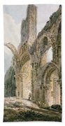 Lindisfarne Abbey Beach Towel