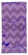 Line Drawing Beach Towel