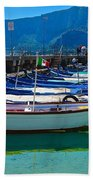 Lined Up Fleet In Sicily Beach Towel
