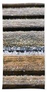 Lines Of Ice Beach Towel