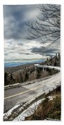 Linn Cove Viaduct During Winter Near Blowing Rock Nc Beach Towel