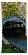 Linton Stevens Covered Bridge Beach Towel