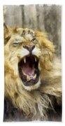 Lion 15 Beach Towel