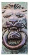 Lion And Snake Beach Towel