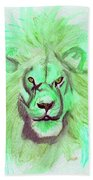 Lion Blue By Jrr Beach Towel